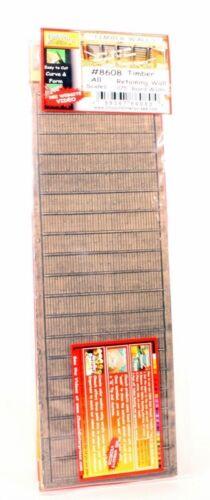 """HO//O Scale Chooch #8608 Flexible TIMBER Wall .075 Board Width 3.75/"""" x 12/"""""""