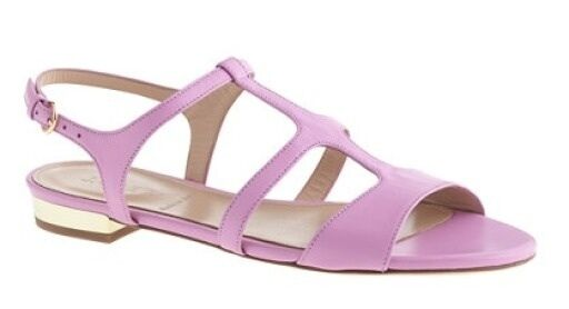 150 JCrew Allie Gladiator Sandals Wisteria Purple Leather shoes Sandal Size 8.5