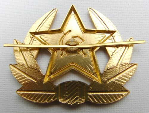 Soviet Russian Army Red Star Hammer /& Sickle Hat Badge USSR Military Cockade