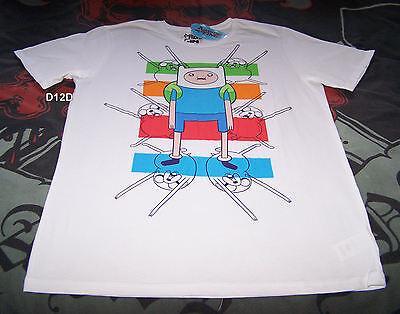 Adventure Time Mens Finn & Jake White Printed T Shirt Size M New