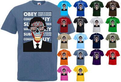 They Live Obey Politic Movie Cinema Black T-shirt S-2XL Horror Scifi Carpenter