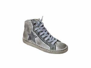 Caricamento dell immagine in corso scarpe-sneakers-alte-uomo -pelle-Via-Condotti-stella- 9d1c505f239