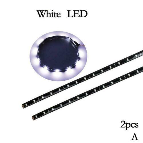 2PCs 12 LEDs 30cm 5050 SMD LED Strip Light Flexible Decor Car J9T5 12V Wate E5D5