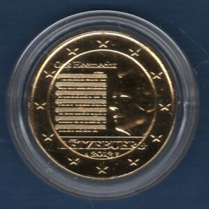 2 euro Commémo Dorée à l'OR Luxembourg 2013 Hymne National Luxembourg