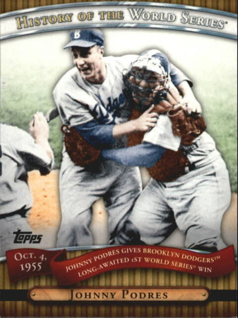 2010 Topps History Of World Series Johnny Podres #HWS11 Brooklyn Dodgers