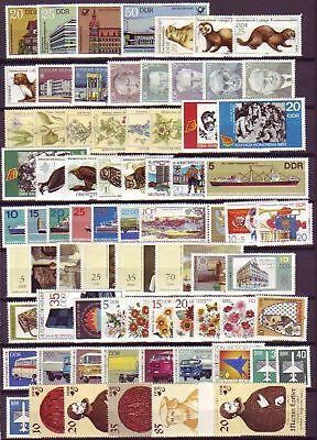 Ddr Jahrgang 1982 , Postfrisch , Auswahl Aus Michel Nr. 2667 - 2763