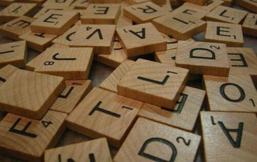Wood Scrabble Tiles Individual Letters