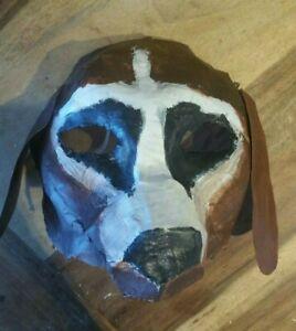 Dog-Mask-Paper-Mache-Handmade-Handpainted-Halloween-Pet-Cemetery