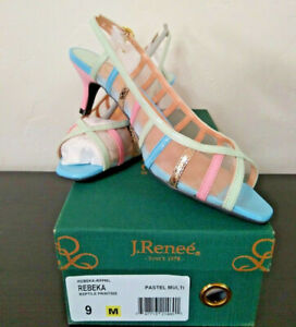 NEW-J-Renee-Rebeka-Slingback-Pastel-Kitten-Heels-Mesh-Dress-Shoes-Pumps-sz-9M