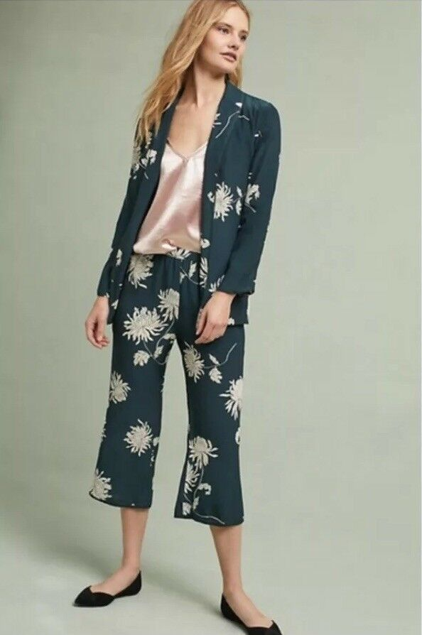 New Anthropologie Capulet Chrysanthemum Floral Print Pants Size Medium