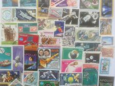 200 Different Space/Rockets/Cosmos on Stamps Collection