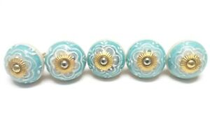 Door-Knobs-Embossed-Hand-Painted-Ceramic-Drawer-Pull-Cabinet-Knobs-Free-Shipp