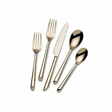 Towle Living Wave Rose Gold Plated 20-piece Flatware Set