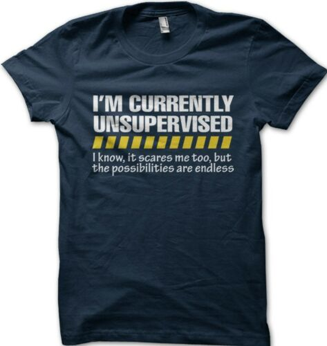 Gift for Him Dad Grandad Joke Slogan 9225 Unsupervised Mens Funny T Shirt