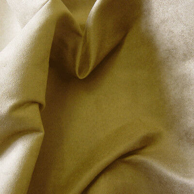 SUEDE FABRIC IVORY 225gsm Plain Dress Upholstery Chairs Cushions Soft Curtains