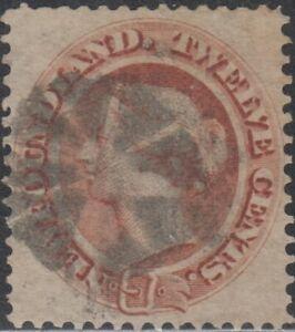 """NEWFOUNDLAND, UNITRADE # 29 USED """"QUEEN VICTORIA"""", 1865, VAL. $ 45.00"""
