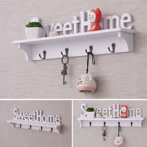Wooden-and-plastic-Wall-Hook-Door-Mounted-Coat-Hat-Clothes-Key-Hanger-Home-Decor