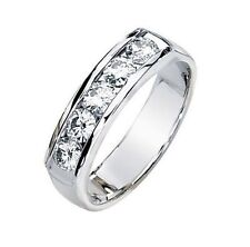 1.26 carat total 5 ROUND CUT DIAMOND RING 14k White Gold Wedding BAND F-G color