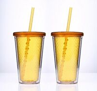 Cuptureâ® Beehive Orange/honey Color Insulated Double Wall Tumbler Cups - 16 Oz, on Sale