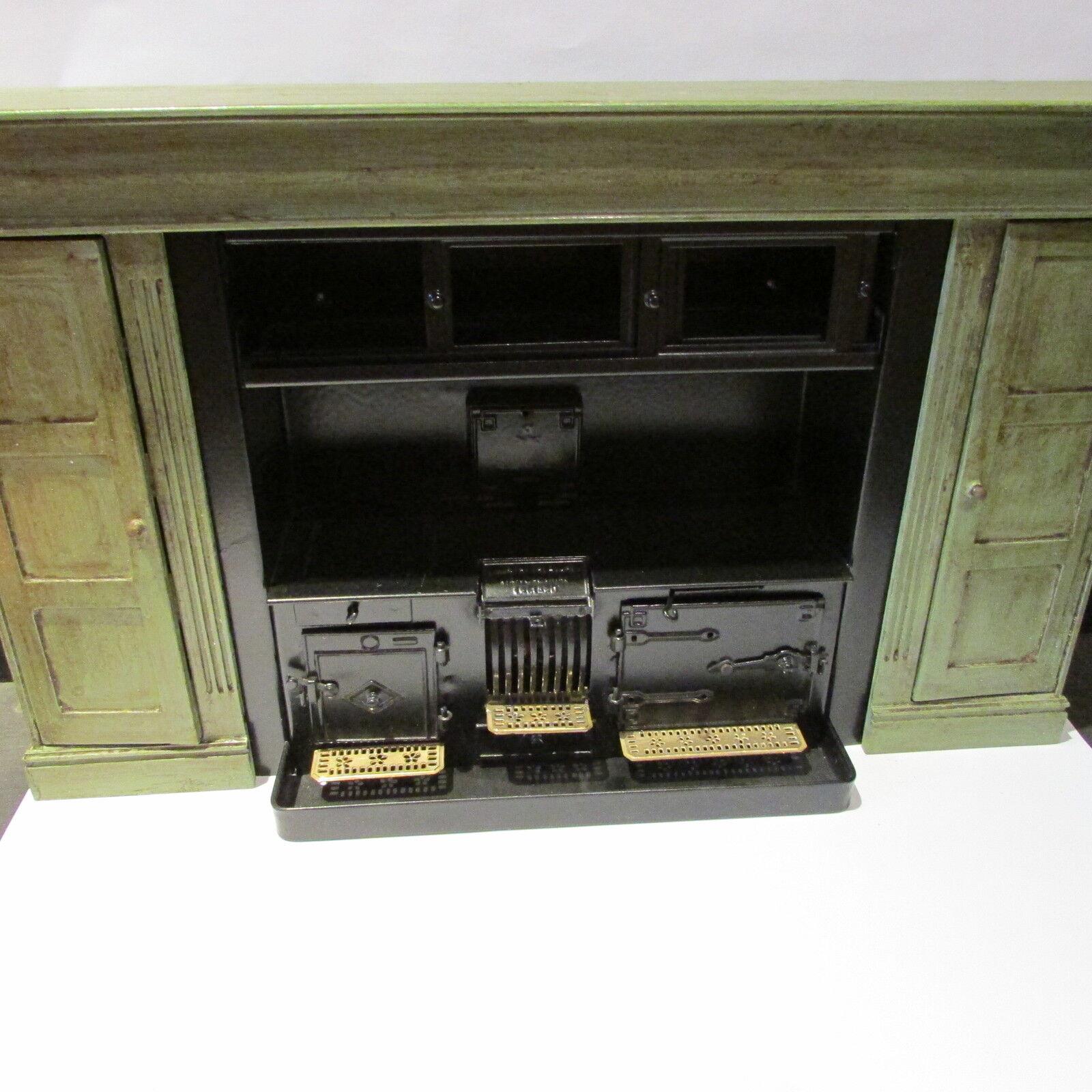 Intervtuttio    FORNELLO   in mettuttio verniciato in legno Surround  bambolaS HOUSE miniatura 1 12  prima qualità ai consumatori