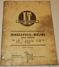 Minneapolis Moline Iampt Service Amp Repair Manual Mm 14 Covers 335 445 4 Star