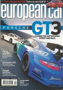European Car Auto Magazine Porsche Gt3 Morgan Aeromax Audi A5 Golf