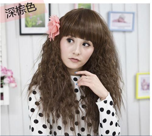 Perücke Wig Peruik gewellt aus hochwertiger Kunstfaser Neu W1237 Haar Zopf