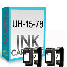 4 Non-OEM Ink Cartridge For 15 and 78 Colour Copier 310 Officejet 5110 V40 V45