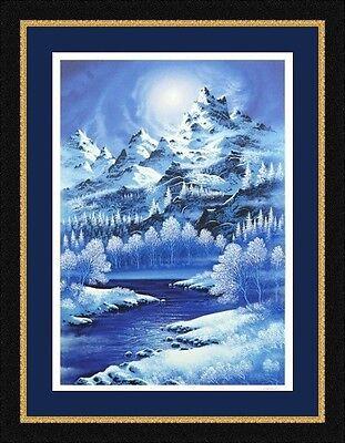 "Jon Rattenbury ""Windswept Summit"" Framed Limited Edition Serigraph AP 16/20 COA"