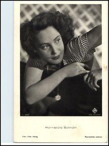 Portraet-Postkarte-Buehne-Kino-Film-Foto-Verlag-Schauspielerin-Hannelore-Schroth