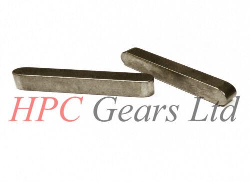 Round Ended Feather Key Parallel Keysteel Drive Shaft Keys 2mm 3mm 4mm 5mm 6mm