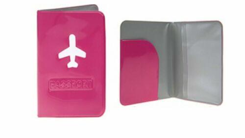 Porte-passeport Néon Couleur ID Housse de Voyage Portefeuille avion Logo Cadeau PMS783026 UK