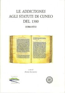LE ADDICTIONES AGLI STATUTI DI CUNEO DEL 1380   (Pos. T11)