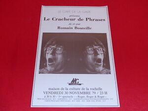 COLL-J-LE-BOURHIS-AFFICHES-Spectacles-ROMAIN-BOUTEILLE-1979-LA-ROCHELLE