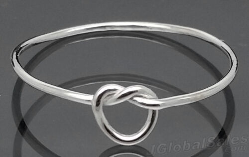 Genuine 925 Sterling Silver Loose Love Knot Wire Dainty Ring size 4 5 6 7 8 9 10