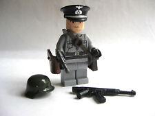 Lego Custom WW2 GERMAN OFFICER Minifigure Brickforge Weapons Army Military