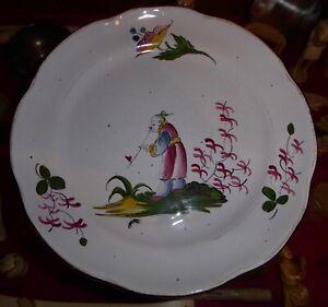 pas mal d8759 a703b Détails sur Ancienne assiette faïence de l'est décor au chinois