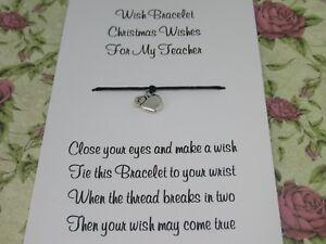 Teacher-Christmas-Wishes-Wish-Bracelet-Gift-Tibetan-Apple-Charm-Anklet-Present