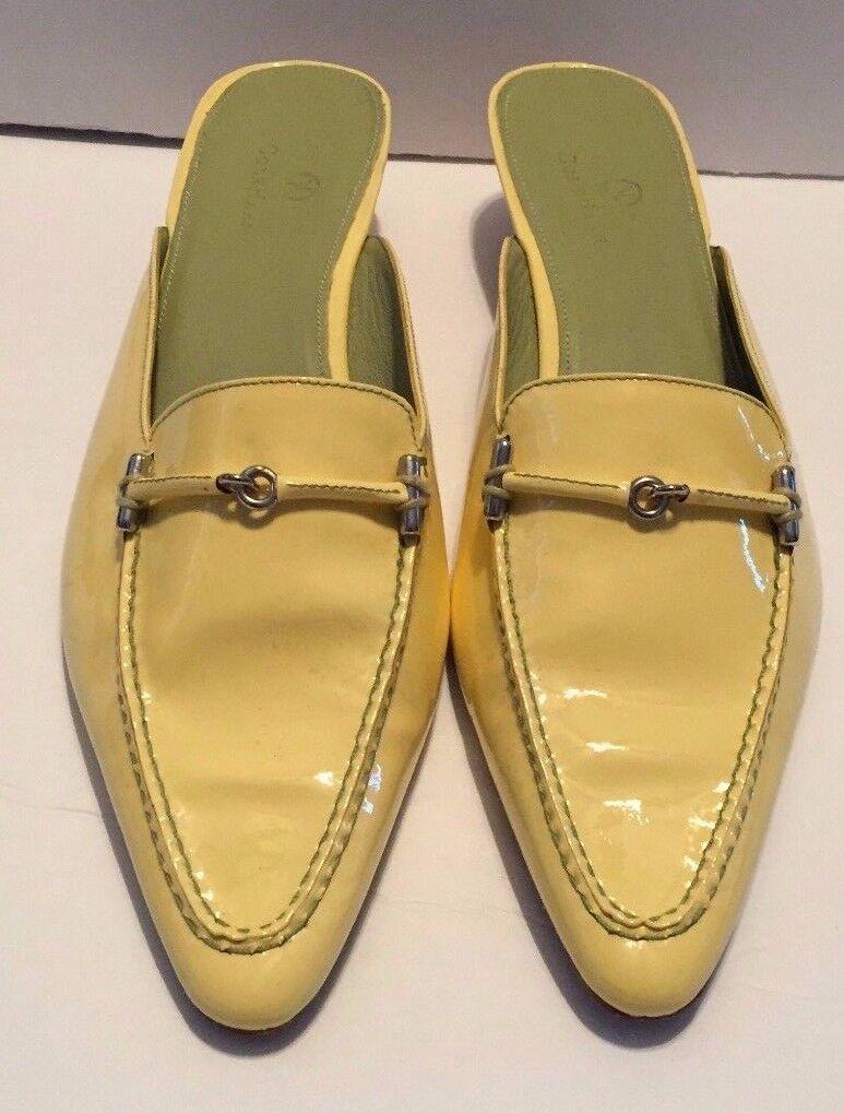 elementi di novità donna Cole Haan giallo Kitten Heels Open Back Summer Summer Summer Style Slip On Patent  più economico