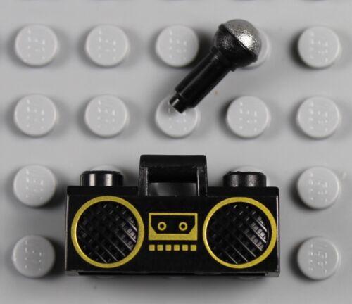 Karaoke Singer Minifigure w// Microphone Speakers Boombox Headset Rapper LEGO