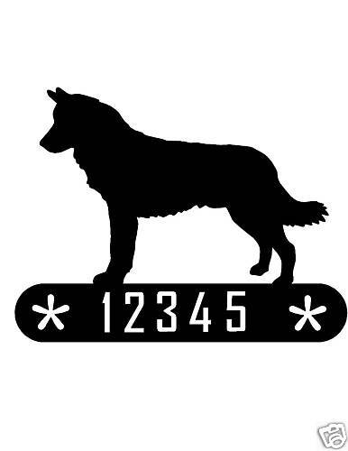 MALAMUTE METAL HOME ADDRESS SIGN HOUSE DOG DECOR PLAQUE