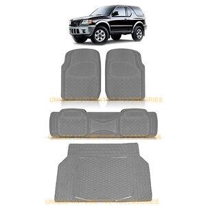 Charcoal Gray Heavy Duty Rubber Floor Mats Cargo Trunk Mat