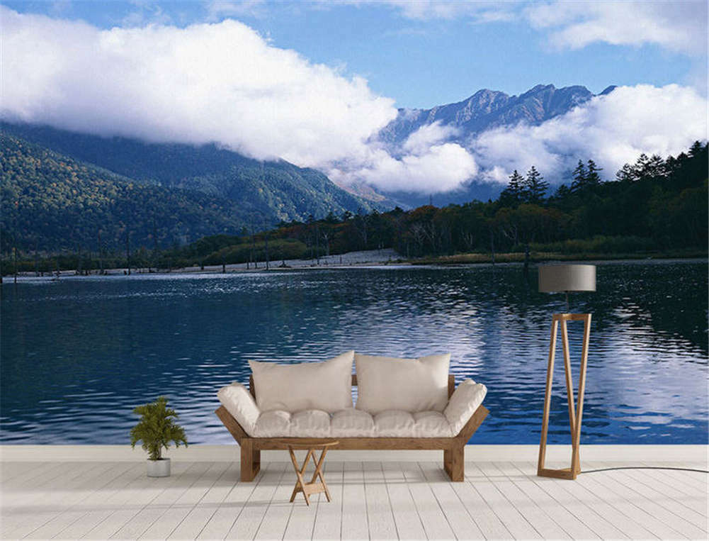Blau Concise Lake 3D Full Wall Mural Photo Wallpaper Printing Home Kids Decor