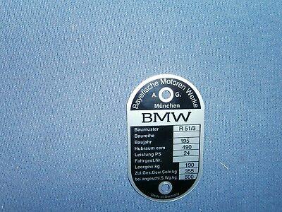 Typenschild BMW R 51