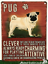 20cm-metal-vintage-style-Pug-lover-gift-breed-characteristics-hang-sign-plaque thumbnail 1