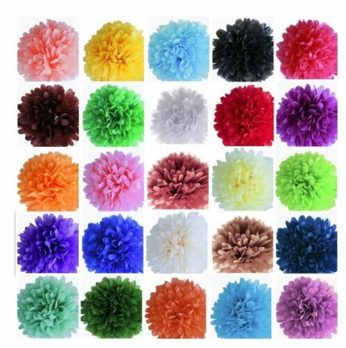 Pom Pom Dekoration Papier verschiedene Farben DIY Hochzeit Papierkugeln 25 15 cm