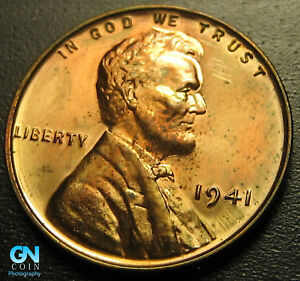 Details about 1941 PROOF Lincoln Cent Wheat Penny -- MAKE US AN OFFER!  #G5284
