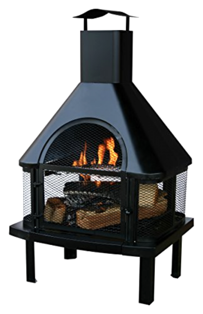 Wood Burning Fire Pit Patio Firepit Deck Chiminea Outdoor Backyard Bbq Fireplace