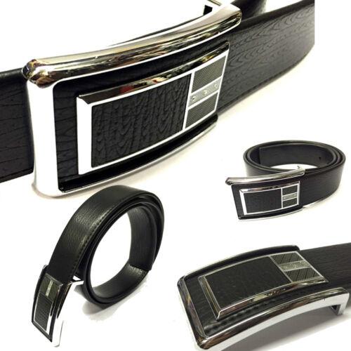 Mens Black 40mm Soft PU Leather Adjustable Quality Formal Dress Suit Belt YC008