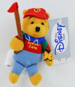 "Disney Winnie the Pooh SUMMER CAMP 5/"" Magnetic Plush mini magnet doll NEW"